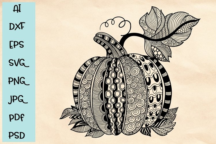 Hand drawn pumpkin doodles in SVG format example image 1