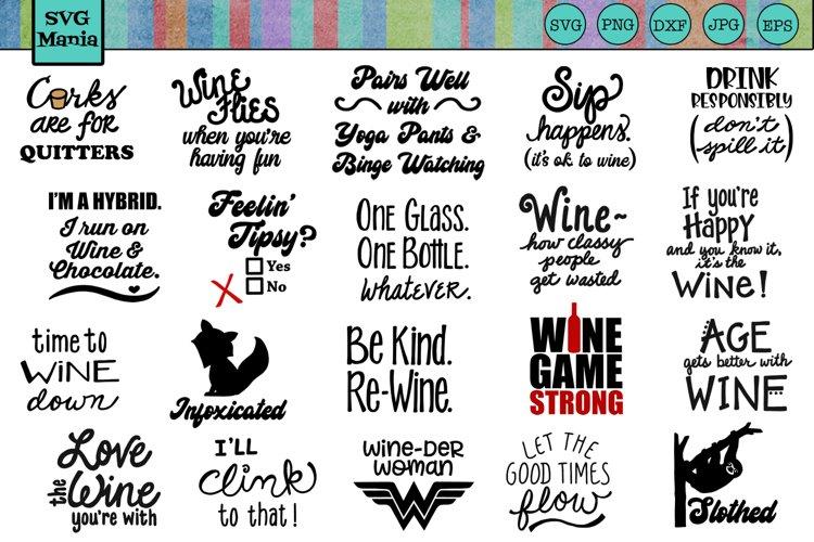 Funny Wine Glass SVG File Bundle, Wine Glass SVG Mega Bundle