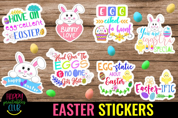 Easter Stickers Pack 1- Printable Easter Stickers- Easter