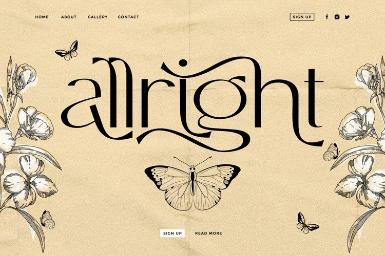 Allright - Fashionable Font example image 1