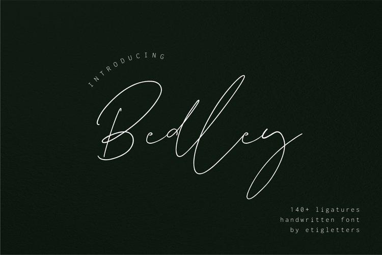 Bedley // Handwritten Font example image 1