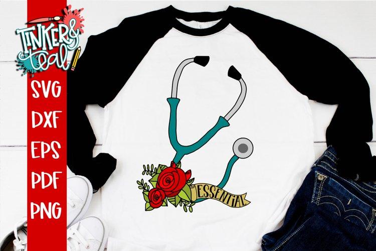 Essential Worker Doctor Nurse Stethoscope SVG example image 1