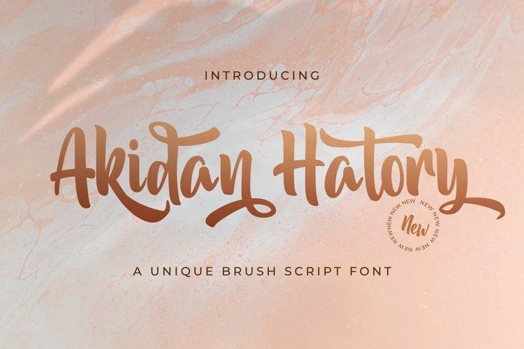 Akidan Hatory - Bold Script Font example image 1