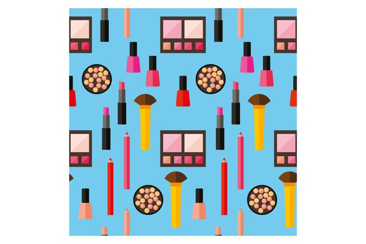 Cosmetic product vector pattern background. example image 1