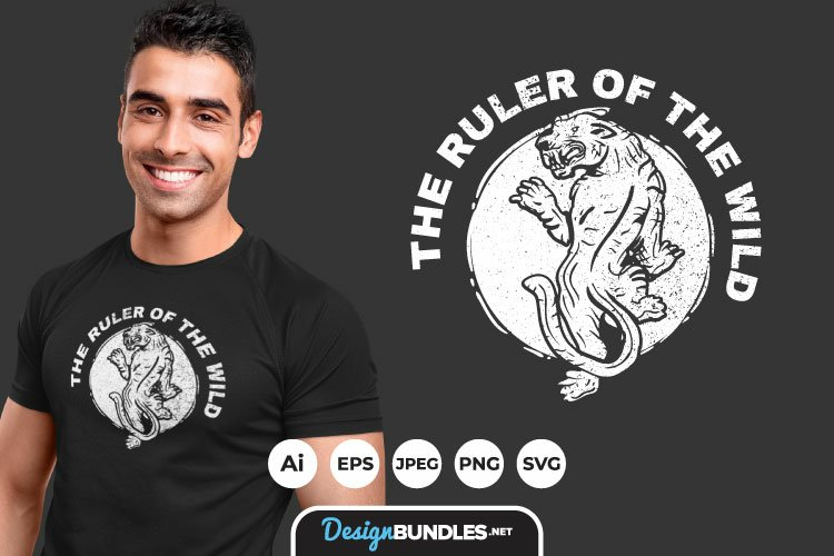 The Ruler of The Wild for T-Shirt Design example image 1