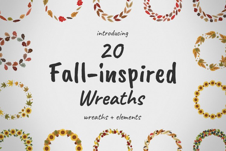 Fall-inspired Wreaths & Elements