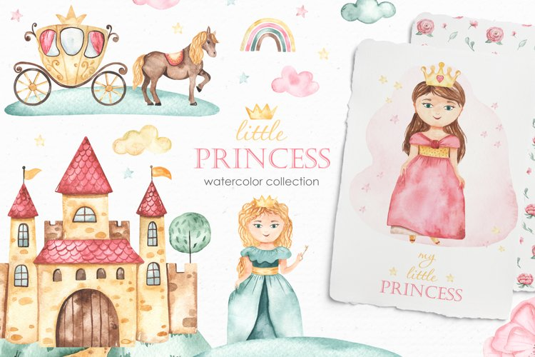 Little princess watercolor example image 1
