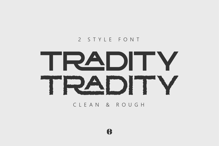 TRADITY | Dual Style Capital Font