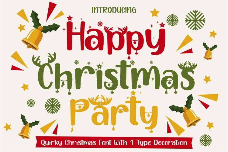 Happy Christmas Party - Xmas Font example image 1