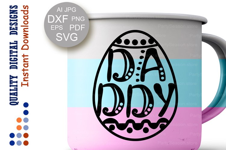 Easter eggs svg clipart Daddy shirt example image 1
