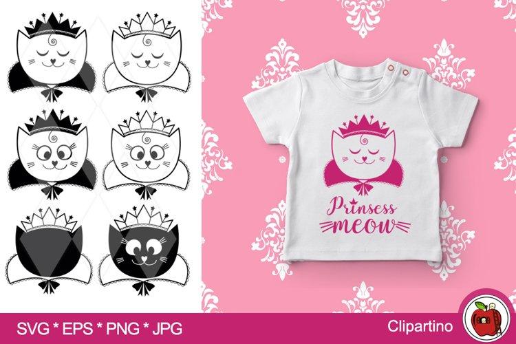 Princess cat SVG Bundle-princess cut file-print tshirt