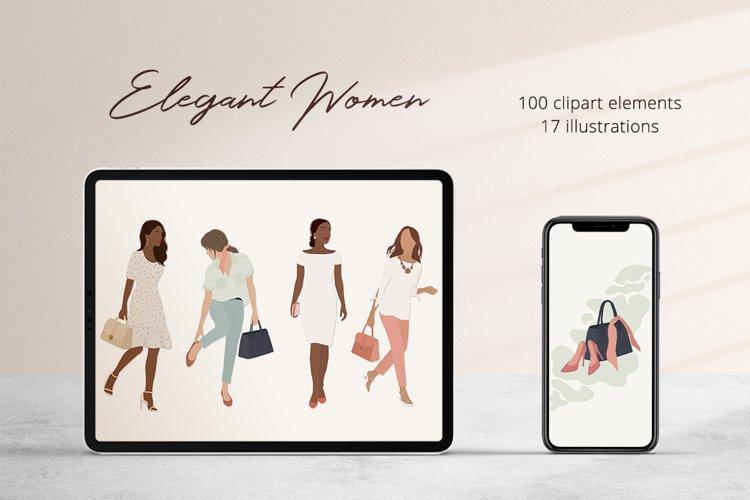 Elegant Women Illustration Set example image 1