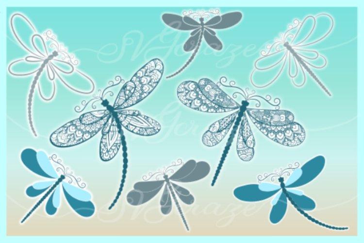 Dragonfly Mandala Zentangle Bundle Svg Dxf Eps Png Pdf Files - Free Design of The Week Design0