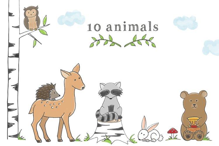 Woodland Animal Clipart Set - Free Design of The Week Design0