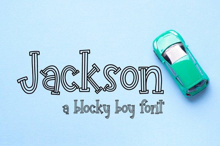 Web Font Jackson - A Blocky Boy Font example image 1
