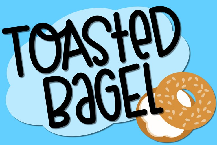 Toasted Bagel - A Fun Font example image 1
