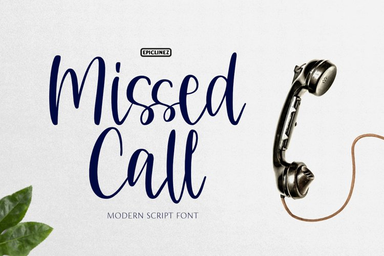 Missed Call | Fun Handwritten Font example image 1
