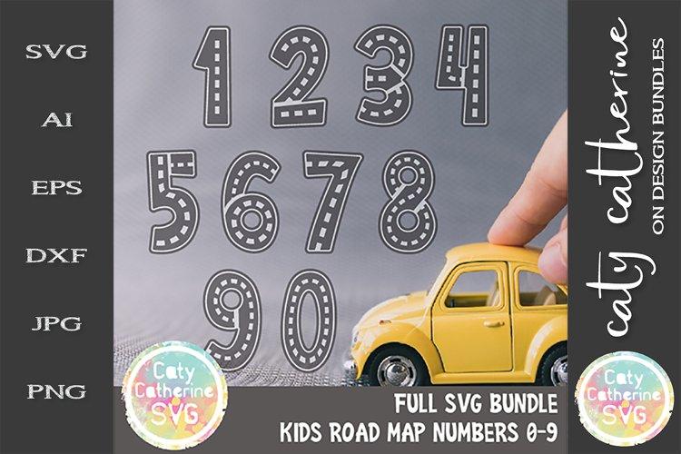 Road Map Kids Birthday Number Bundle SVG Cut File example image 1