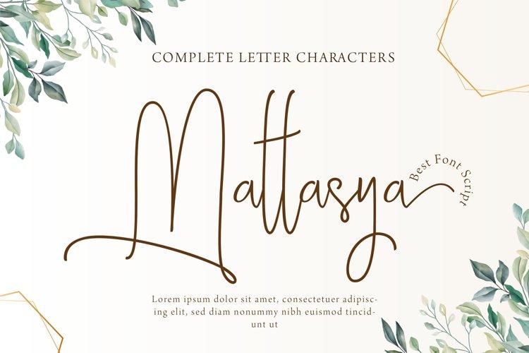 Mattasya - Best Font example image 1