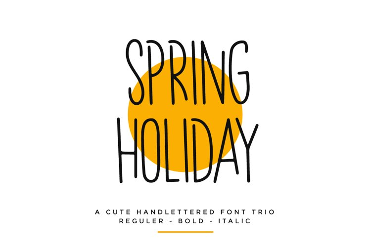 Spring Holiday | 3 Handwritten Font example image 1
