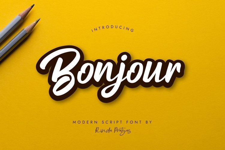 Bonjour Modern Script Font example image 1