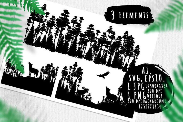 Forest landscape silhouettes example image 1