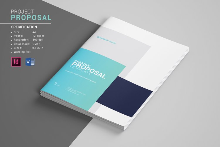 Business Proposal Template, Indesign & MS Word Template example image 1