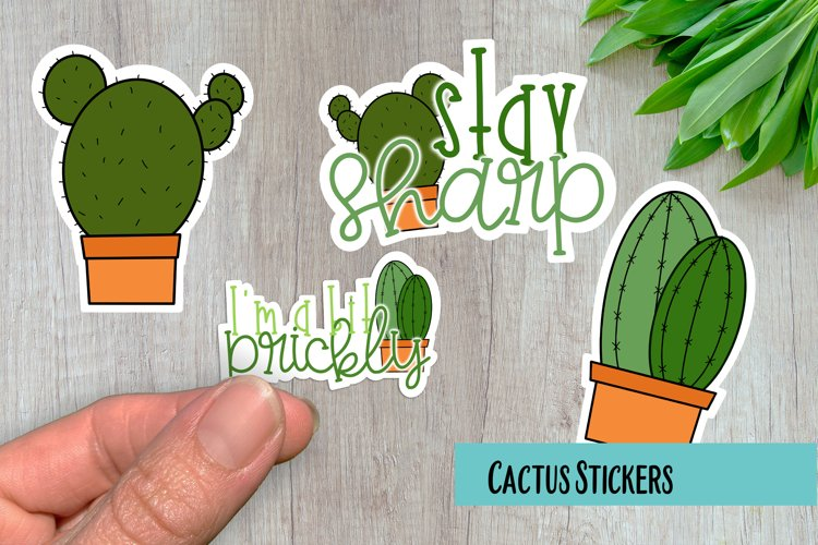 Cactus PNG Sticker Pack example image 1