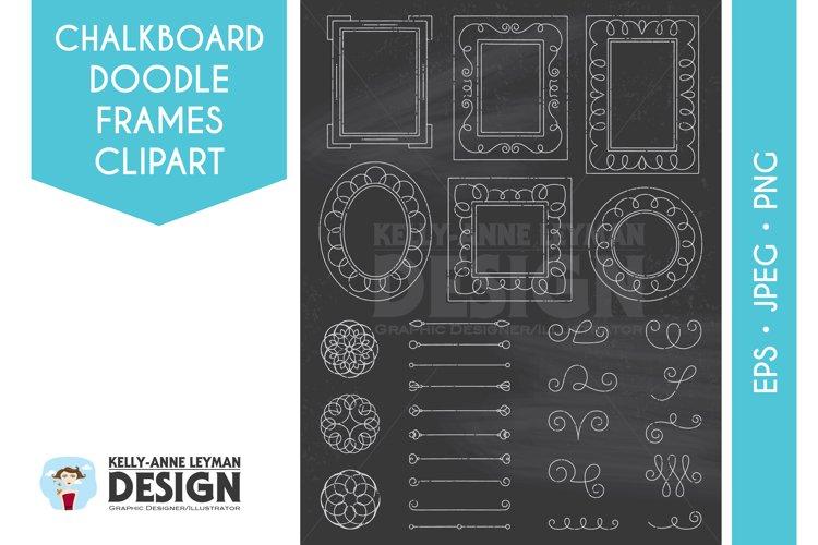 Chalkboard Digital Frame Clipart, Digital Label clipart set example image 1