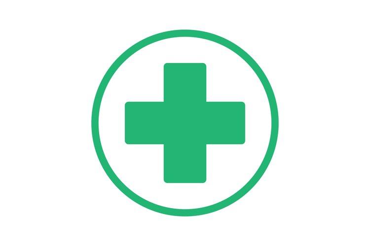 Green cross icon example image 1