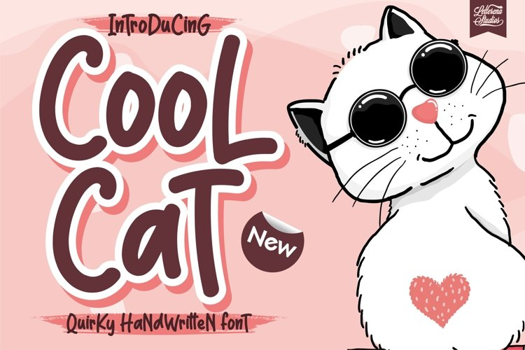 Cool Cat - Quirky Handwritten Font example image 1