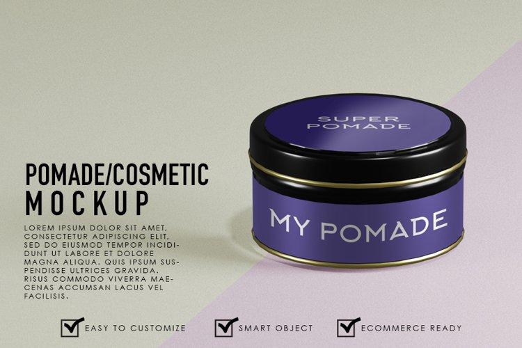 Premium Realistic Pomade/Cosmetic Black Container
