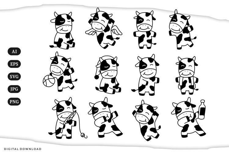 Cow Illustrations   SVG