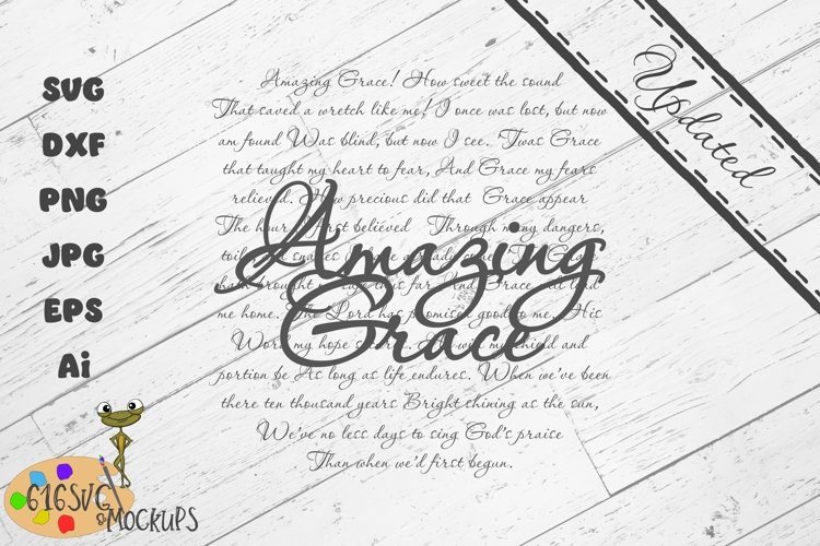 Amazing Grace Hymn Laser Designed SVG example image 1