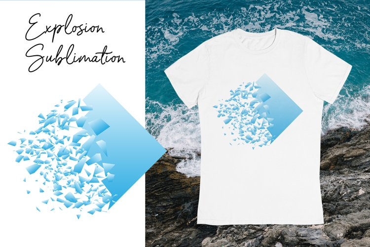 Explosion Sublimation design. Summer T shirt clipart