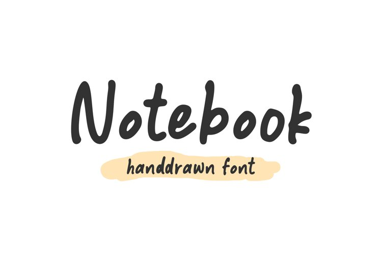 Notebook - Handdrawn Font example image 1