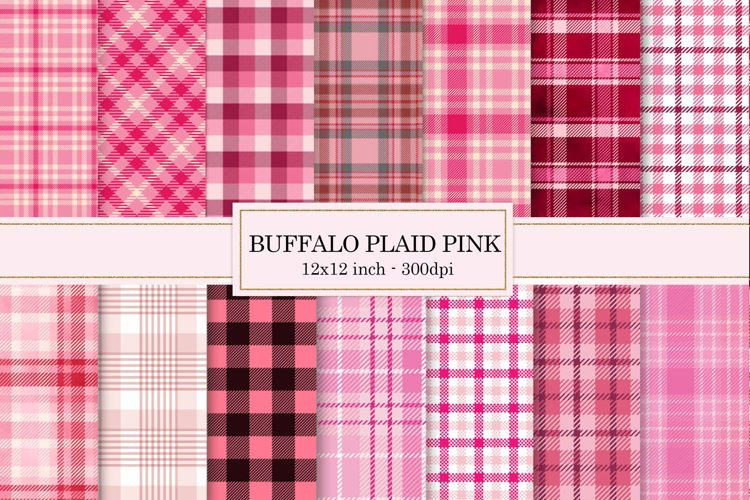Digital paper Pink, buffalo plaid Pink, Background example image 1