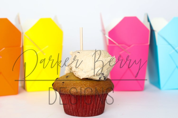 Cookie dough Cupcake Topper Space between Takeout Boxes example image 1