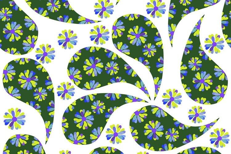 Paisley seamless pattern in vector example image 1