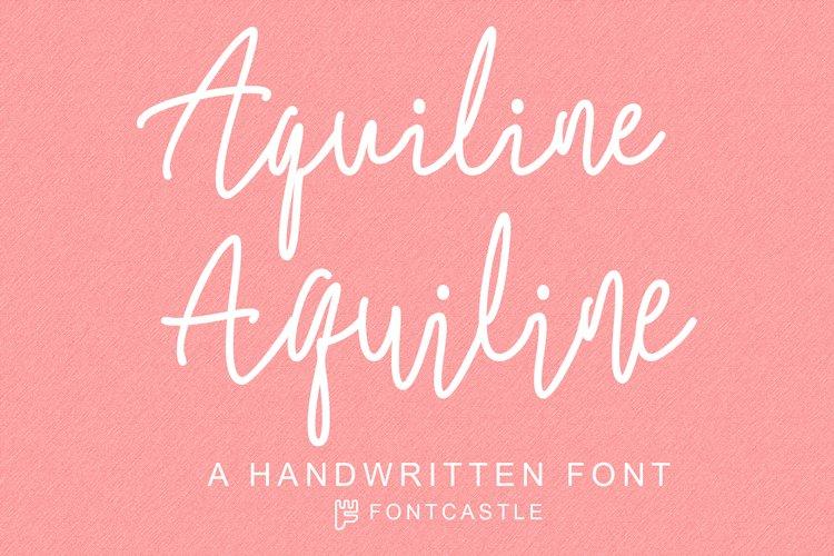 Aquiline Handwritten Font example image 1