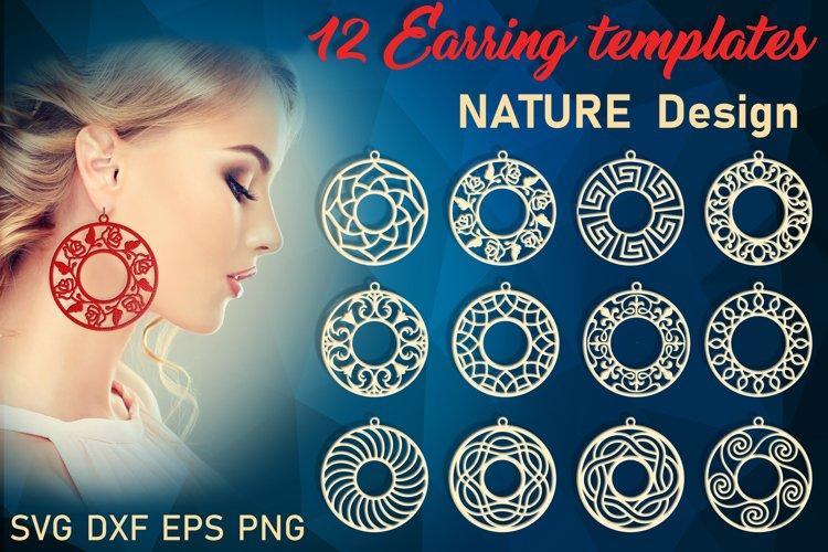 Earring svg bundle Ring earring template