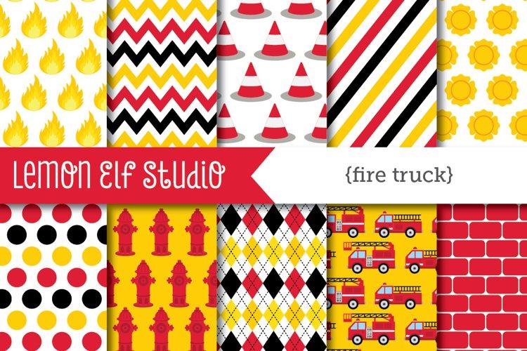 Fire Truck-Digital Paper (LES.DP50)