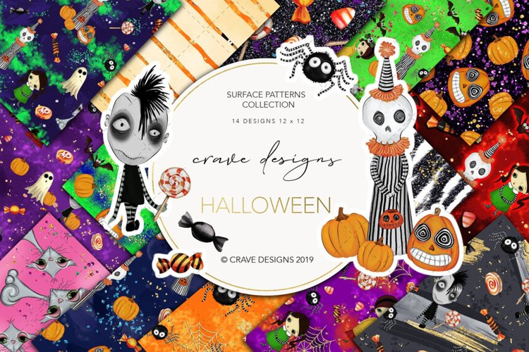 Halloween Patterns example image 1