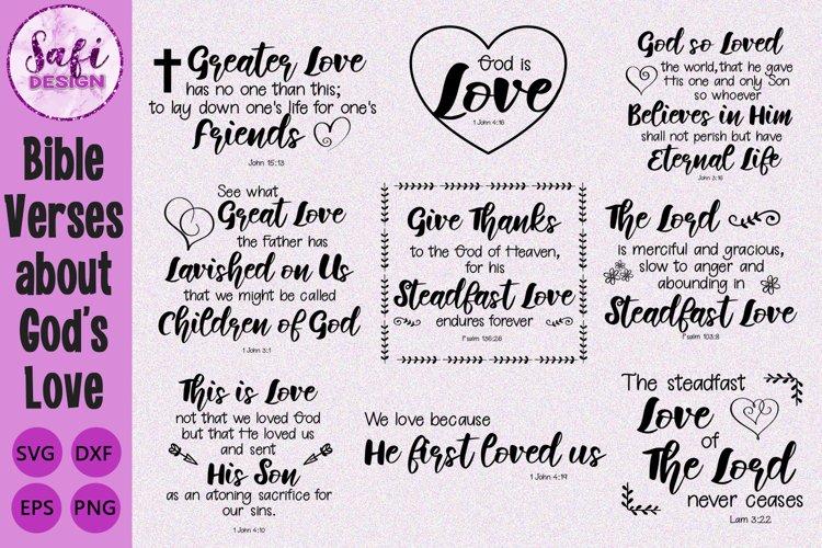 Bible Verses about Gods Love Cut File Bundle- SVG DXF EPS P