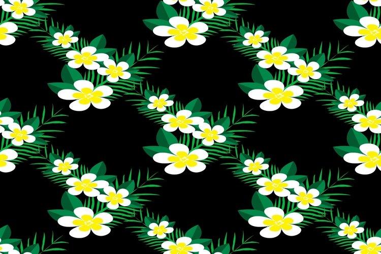 Floral seamless pattern with Plumeria Frangipani