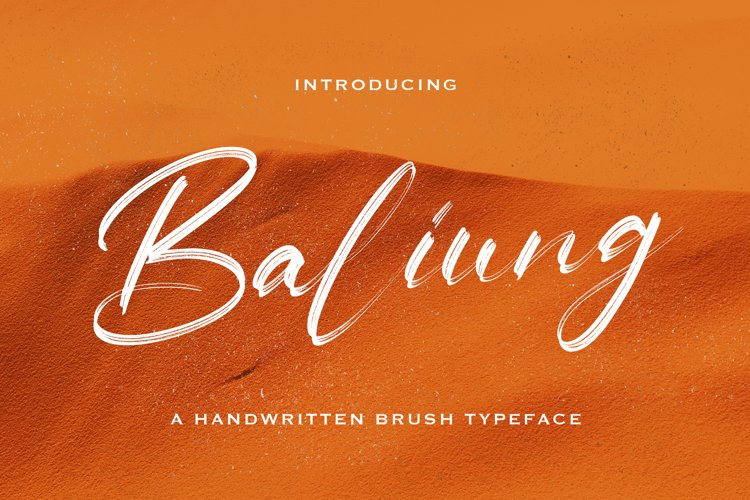 Baliung - Handwritten Font example image 1