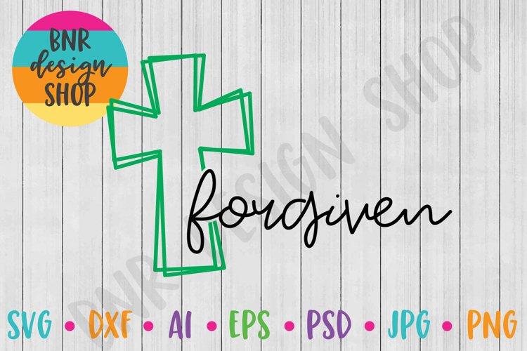 Cross SVG, Forgiven SVG, SVG File, Cut File example image 1