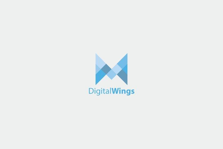 Digital Wings Logo Template example image 1