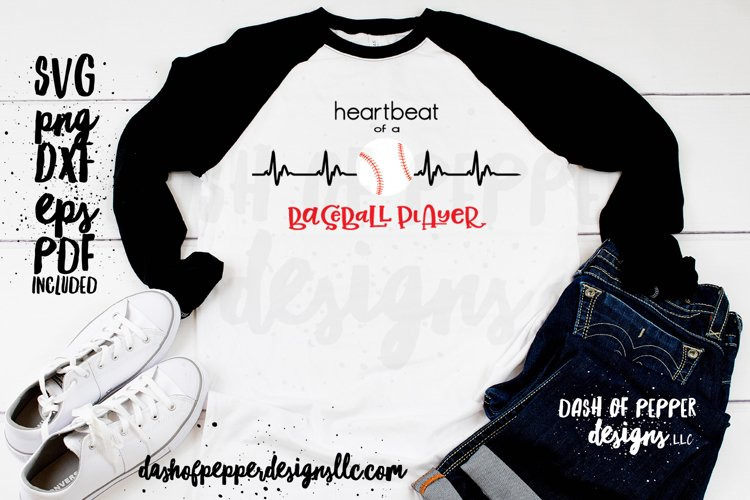 Heartbeat of a Baseball Player - A Baseball SVG example image 1