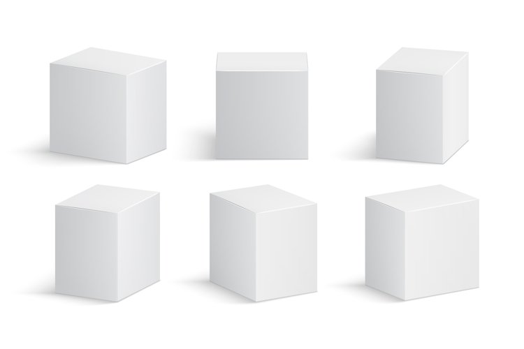 White box. Blank medicine package. Medical product cardboard example image 1